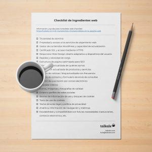 Checklist página web