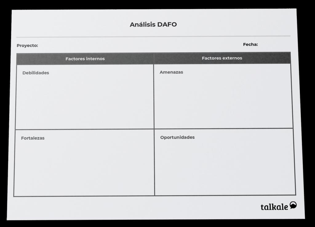 Plantilla de análisis DAFO por Talkale